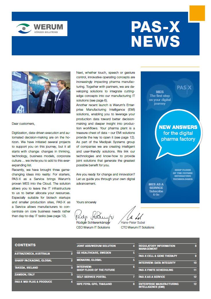 Cover_Werum_NL_PAS-X-News-2018_EMEA_en
