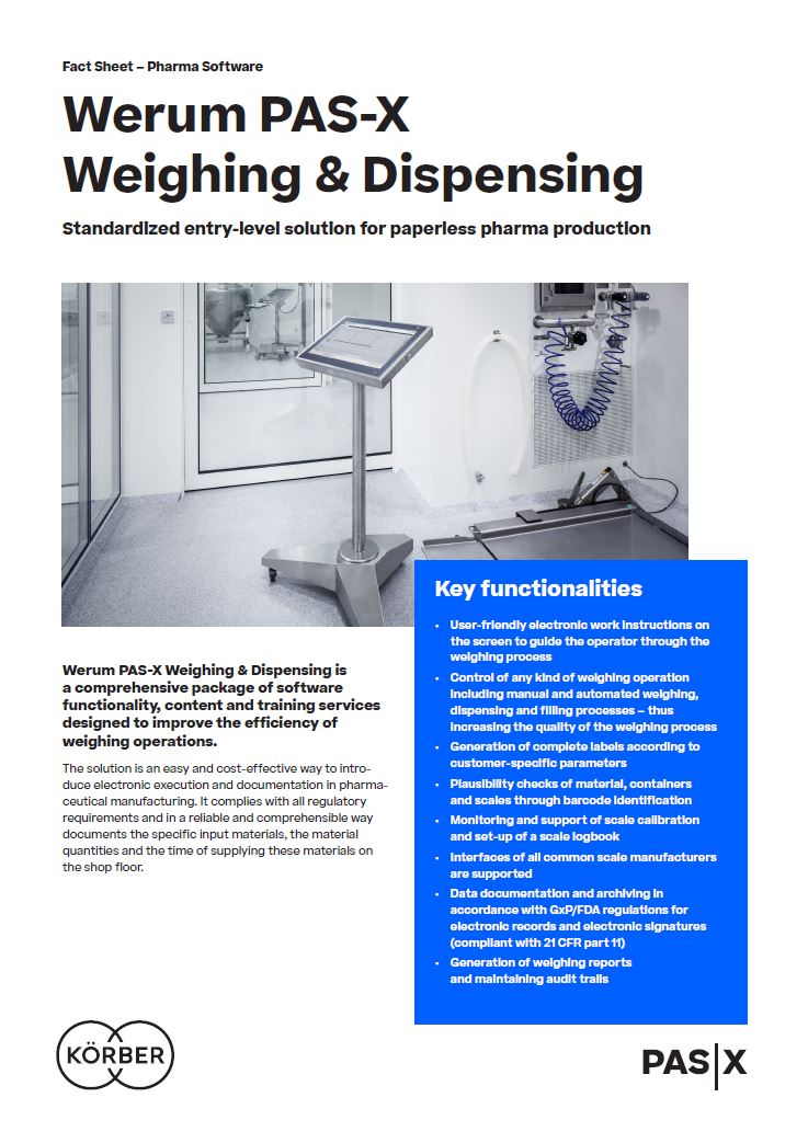 Cover_Werum_BR_0015_PAS-X_WeighingDispensing