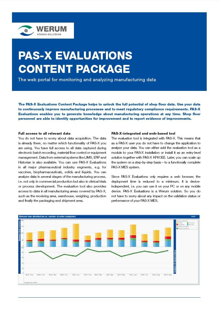 Cover_Werum_BR_0018_PAS-X_Evaluations