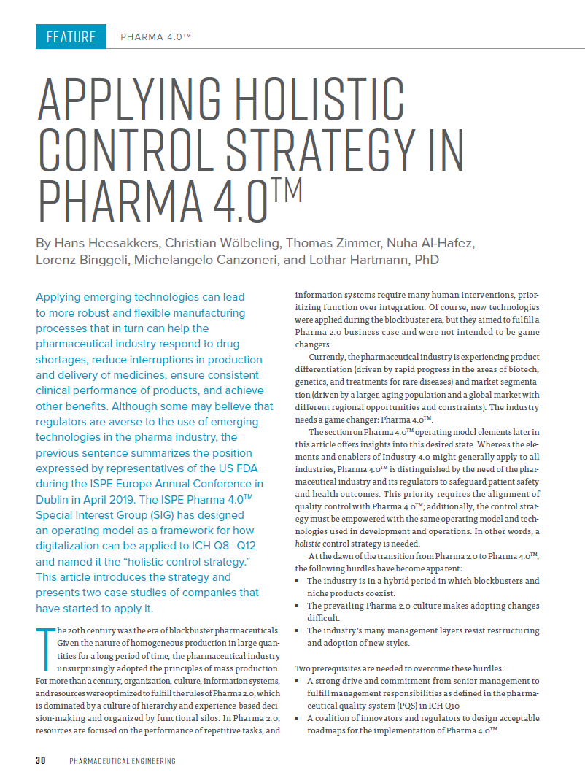 Cover_Werum_A_0073_PE_Applying holistic control strategy in Pharma40